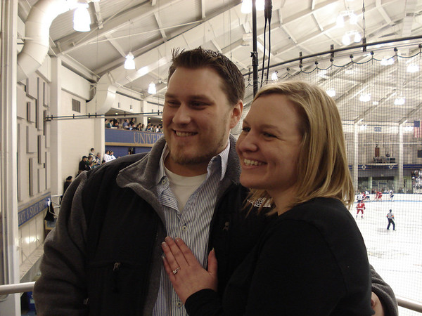 Jen Engagement & Hockey