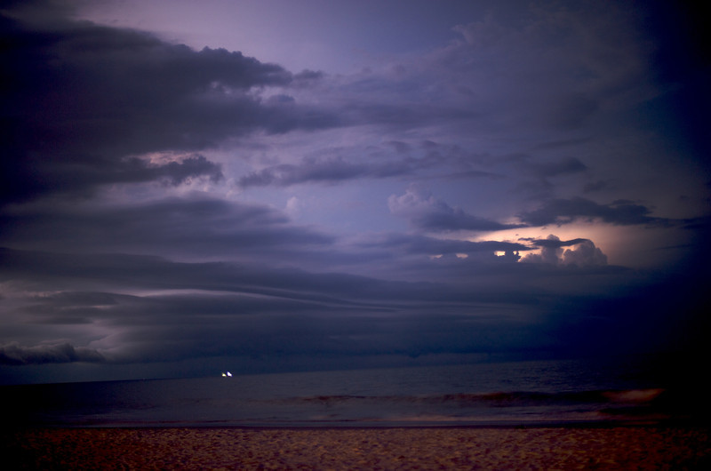 Jax Beach Night Storm