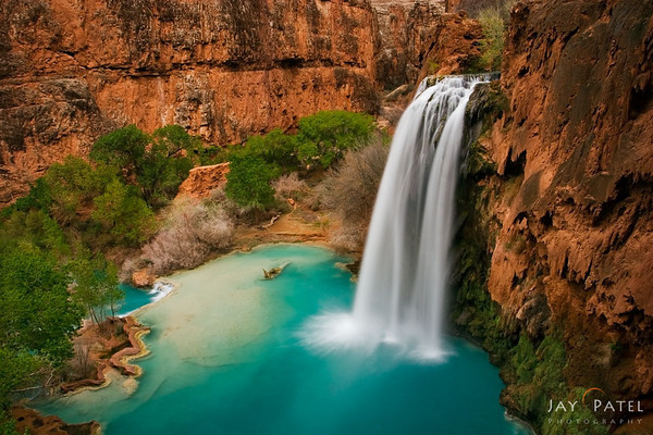 Havasu Falls red and blue by Jay Patel