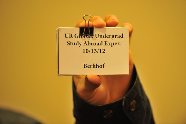 SATURDAY: UR Global: Undergrad Study Abroad Experience