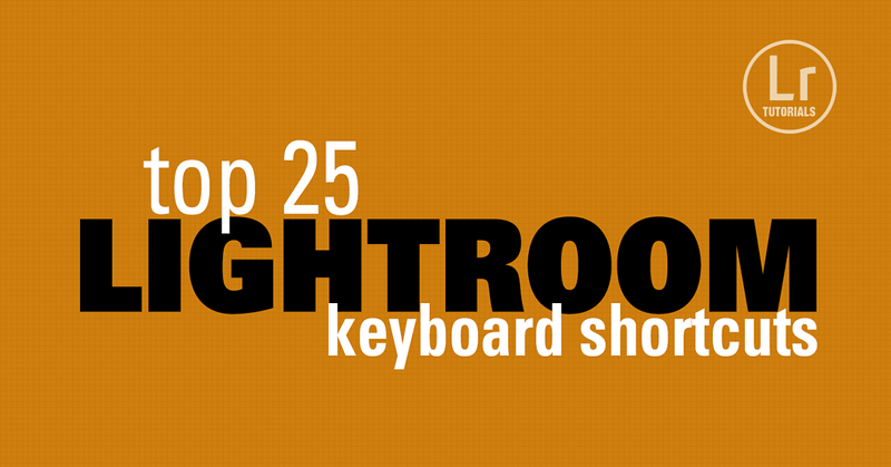 Using Lightroom keyboard shortcuts allows us