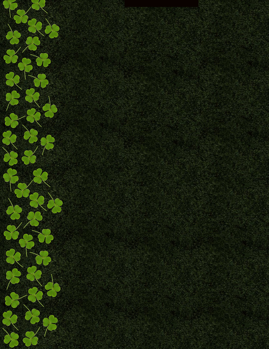 shamrock background 85x11