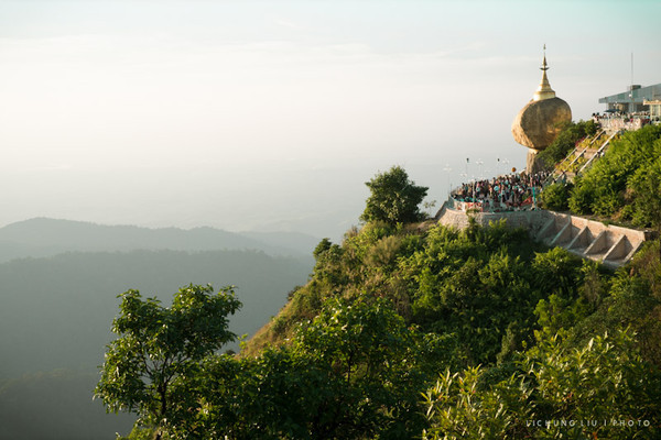 Postcards - Golden Rock, Kinpun, Myanmar