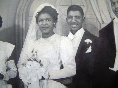 19491008 Quarles-Hall Wedding Portrait