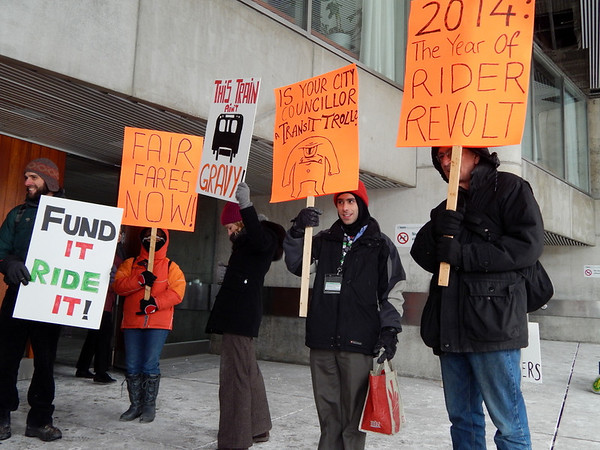 Rally for more TTC funding and lower fares