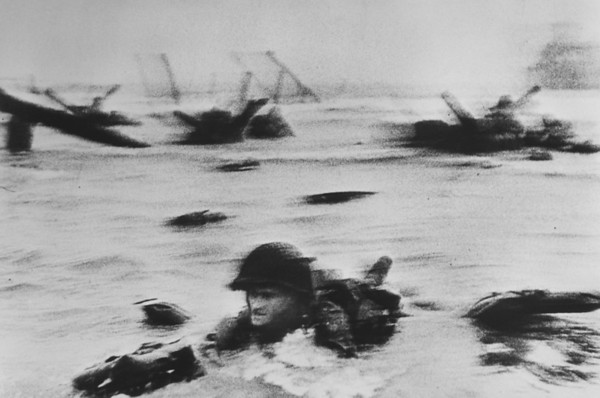 iconic image of a soldier coming up the beach was missing.