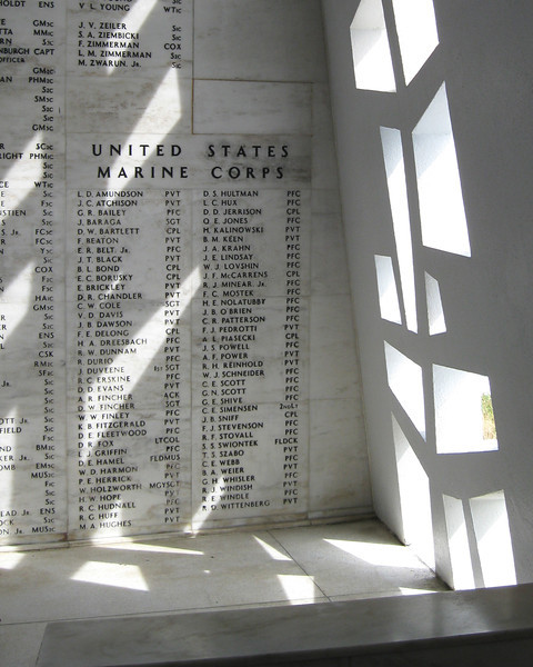 Interior, USS Arizona Memorial, Pearl Harbor, Hawaii