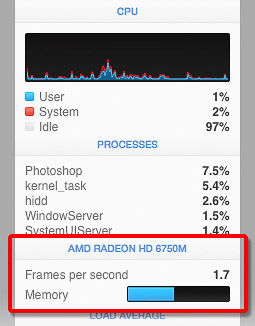 GPU readout from iStat Menus