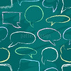 Chalk speech bubbles seamless