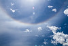 atmospheric sun rings and cloud rainbows