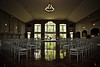 Stylized portrait of the reception hall at Carahill's II in Gallaway, TN.