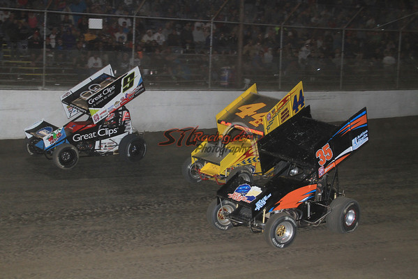 World of Outlaw Sprint Car Series Racing Action