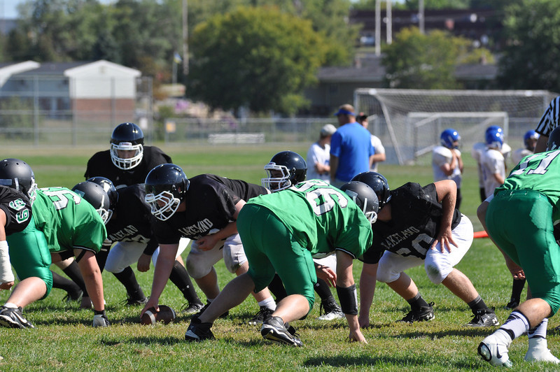 Football Scrimmage at Wausau West