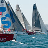 24.07.2011. Sailing Audi MedCup circuit stage from Cagliari, Italy. Region of Sardinia Trophy. Class TP 52 Boats at the start of the last regatta of the event.