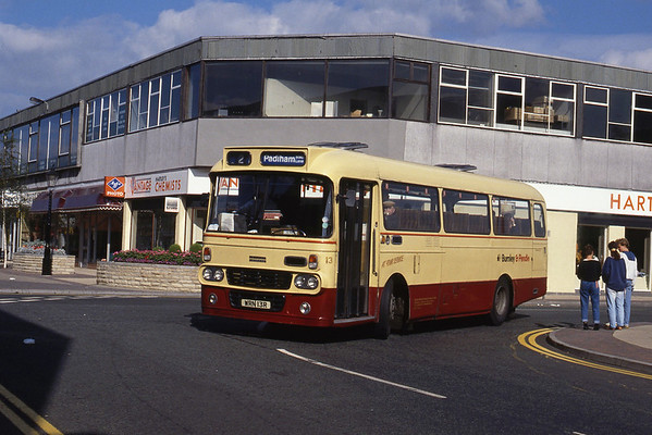 Burnley and Pendle Buses and Coaches September 1989