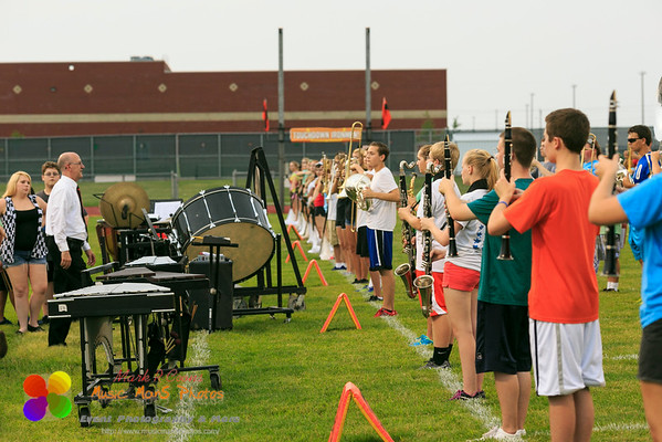 NCHS Marching Ironmen rehearsal on August 28, 2014