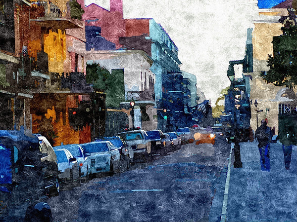 New, Orleans, Streets, PhotoIllus