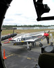 P51 Seen Through B17 Bombardier's Window, Plymouth Airport