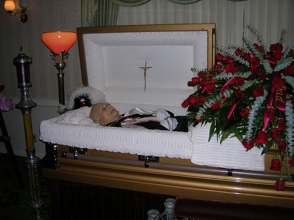 Grandpa, at the funeral parlor, 2008