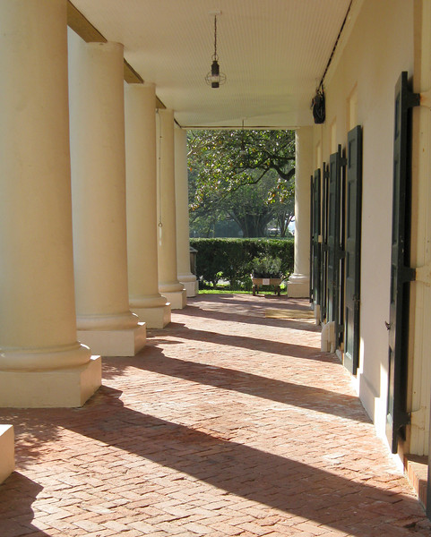 Portico Shadows, Oak Alley Plantation, Vacherie, Louisiana