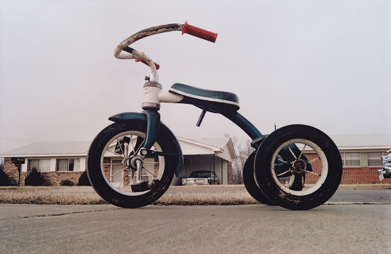 iconic image of the human-less tricycle