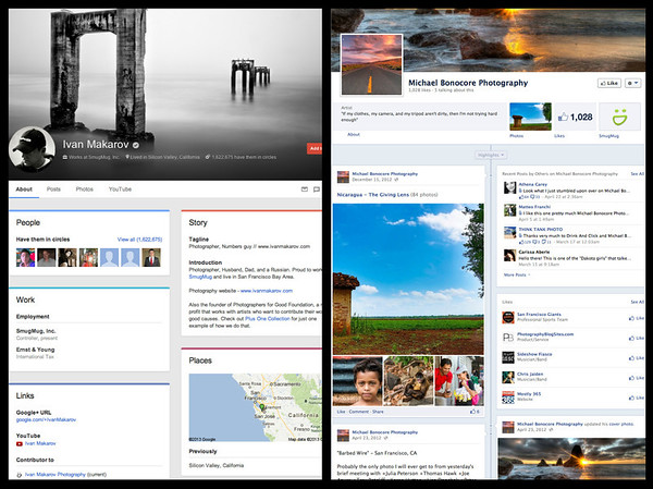 Google Plus and Facebook for photographers