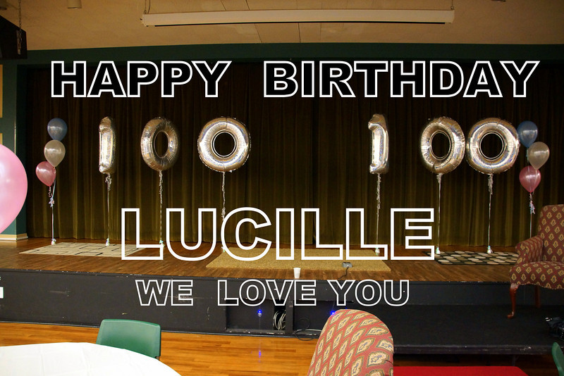 Lucille Porter's 100th Birthday