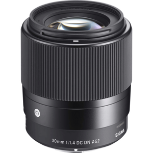 This is Sigma 30mm f/1.4, the fastest lens I have in my possession.