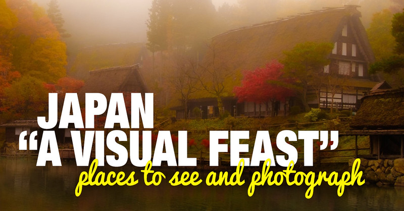 Places to see and photograph in Japan