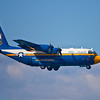 A photo of Fat Albert, the C-130T support aircraft for the Navy'