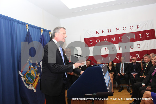 BILL DE BLASIO  INTRODUCING NEW NYPD COMMISSIONER BILL BRATTON