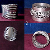 4 x Plated Napkin Rings Numbered