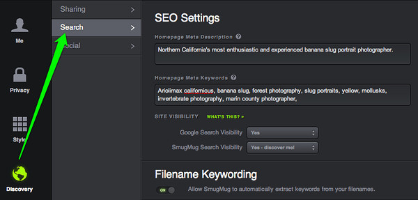 Fill in your SEO settings to maximize your search engine results