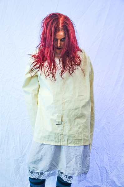 Straight Jacket girl horror photo shoot