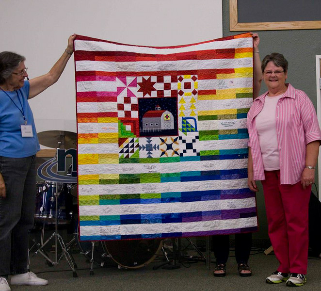 Me being presented with my president's quilt, July 21, 2014