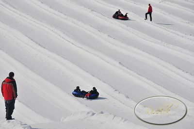 Snowtubing and sledding