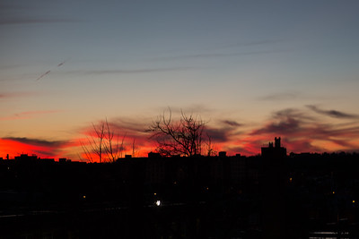 2015-01-05 Sunset from 850 Quincy