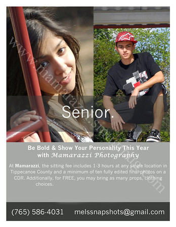 Information  / Photo Sessions /Senior Pictures