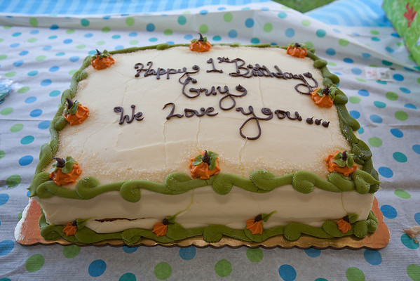 Guy's First Birthday - October 28, 2012