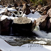 Eldorado Canyon State Park near Boulder, CO. Waterfalls were abundant - which is what I was looking for.  Didn't need to hike much - they were all along the road - more important to dress warm!