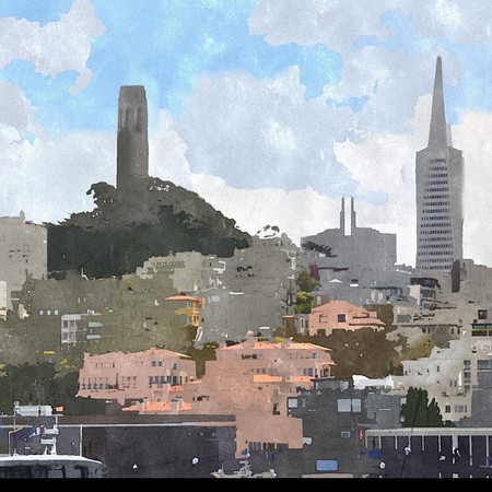 San, Francisco, Landmarks, PhotoIllus