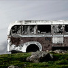 Bus on South Uist Hillside