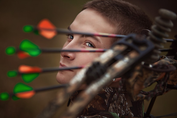 Archery senior portrait by Amanda Reed