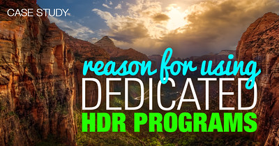 HDR Photography Tutorials - Reason for Using Dedicated HDR Programs