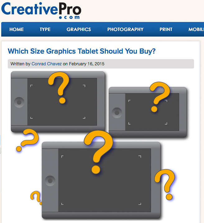 Which Size Graphics Tablet Should You Buy?