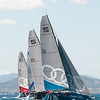24.07.2011. Sailing Audi MedCup circuit stage from Cagliari, Italy. Region of Sardinia Trophy. Class TP 52 series. The fleet during the last regatta of the event.