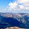Panoramic view looking south from the summit of Mt. Princeton; Mount Antero is at the far left; Colorado Sawatch Range.