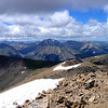 La Plata Peak (Colorado's 5th highest) as seen from the summit of Mt. Elbert (Colorado's highest); Sawatch Range.