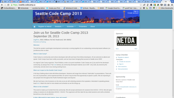 Seattle Code Camp 2013