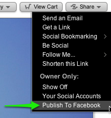 Publish from SmugMug to Facebook